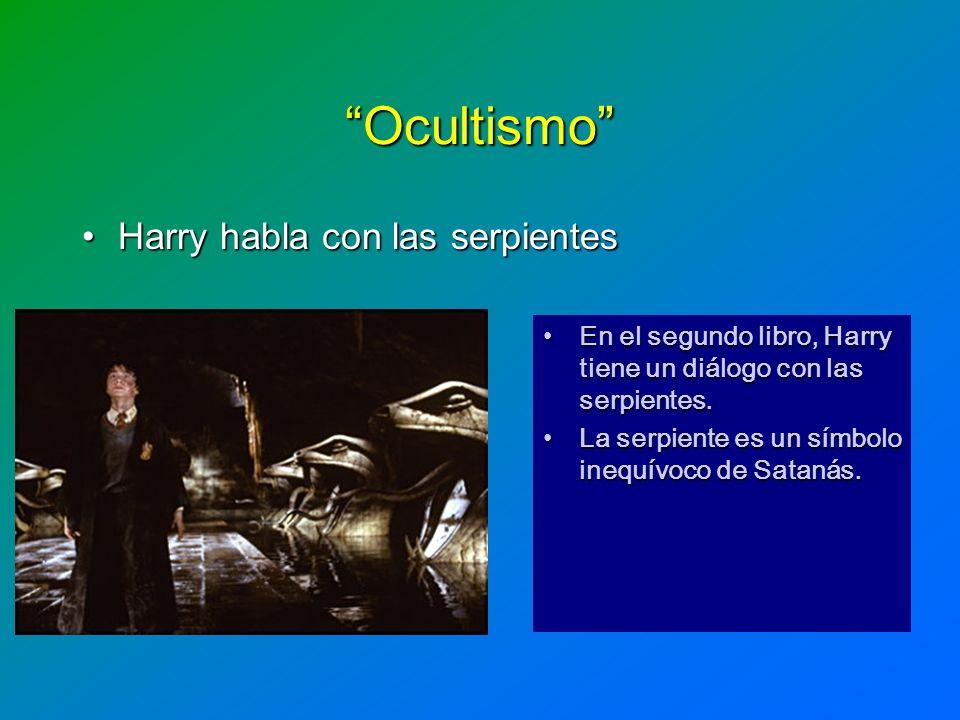 Ocultismo Harry habla con las serpientes