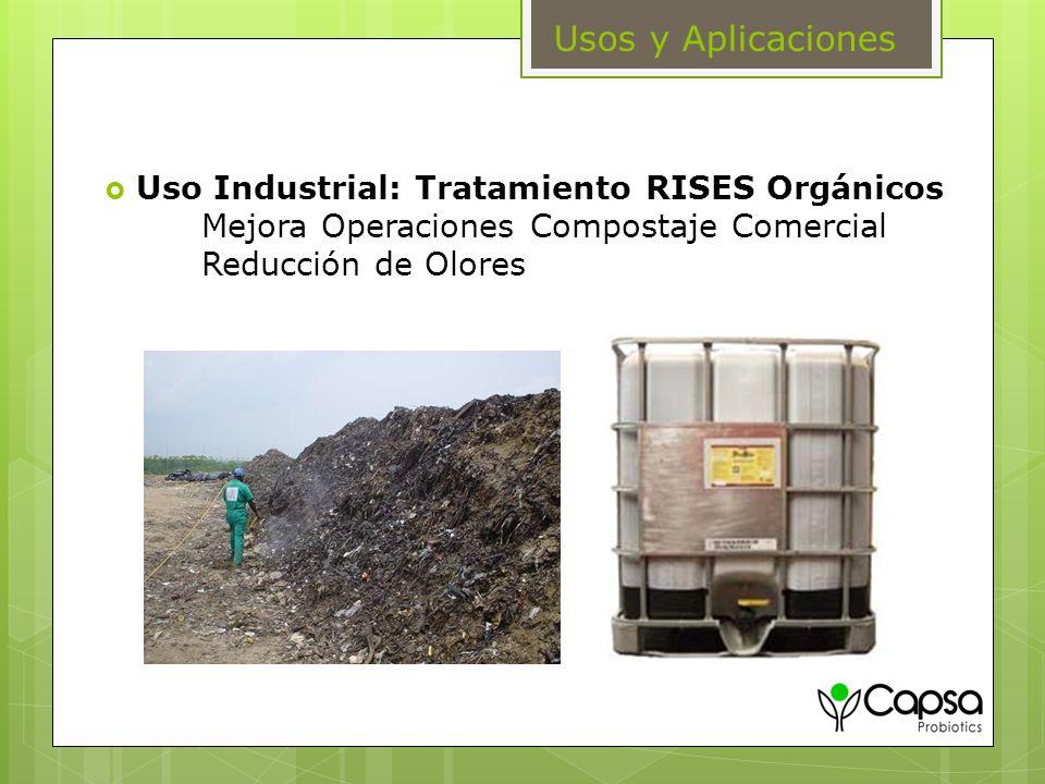 Usos y Aplicaciones Uso Industrial: Tratamiento RISES Orgánicos