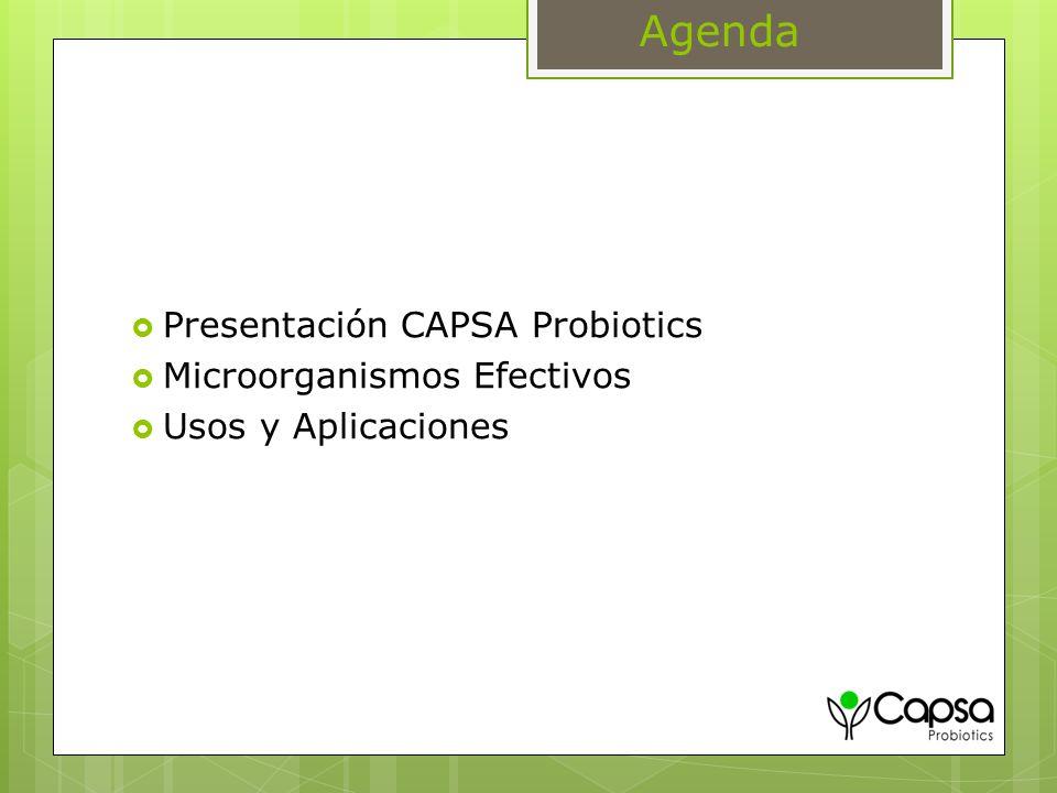 Agenda Presentación CAPSA Probiotics Microorganismos Efectivos