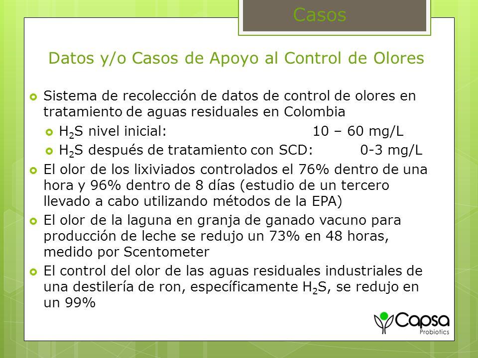 Datos y/o Casos de Apoyo al Control de Olores
