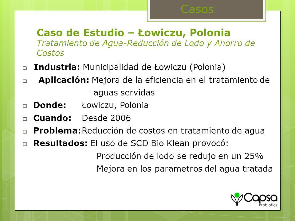 Casos Caso de Estudio – Łowiczu, Polonia Tratamiento de Agua-Reducción de Lodo y Ahorro de Costos. Industria: Municipalidad de Łowiczu (Polonia)