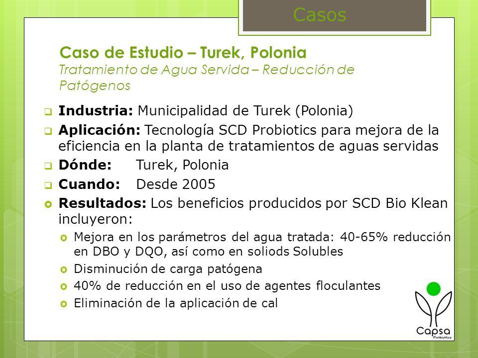 Casos Caso de Estudio – Turek, Polonia Tratamiento de Agua Servida – Reducción de Patógenos. Industria: Municipalidad de Turek (Polonia)