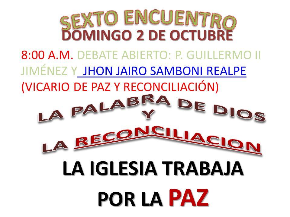 LA PALABRA DE DIOS Y LA RECONCILIACION