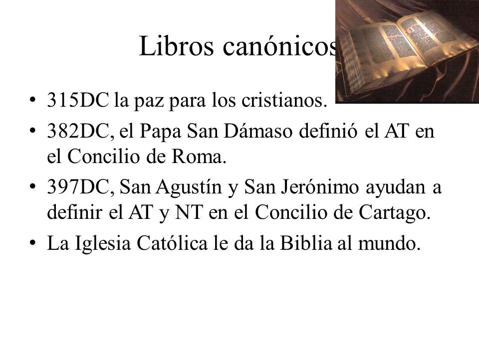 Libros canónicos 315DC la paz para los cristianos.