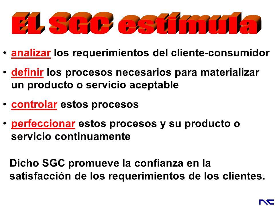 EL SGC estimula analizar los requerimientos del cliente-consumidor