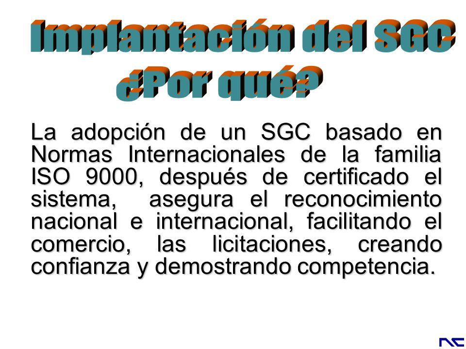 Implantación del SGC ¿Por qué