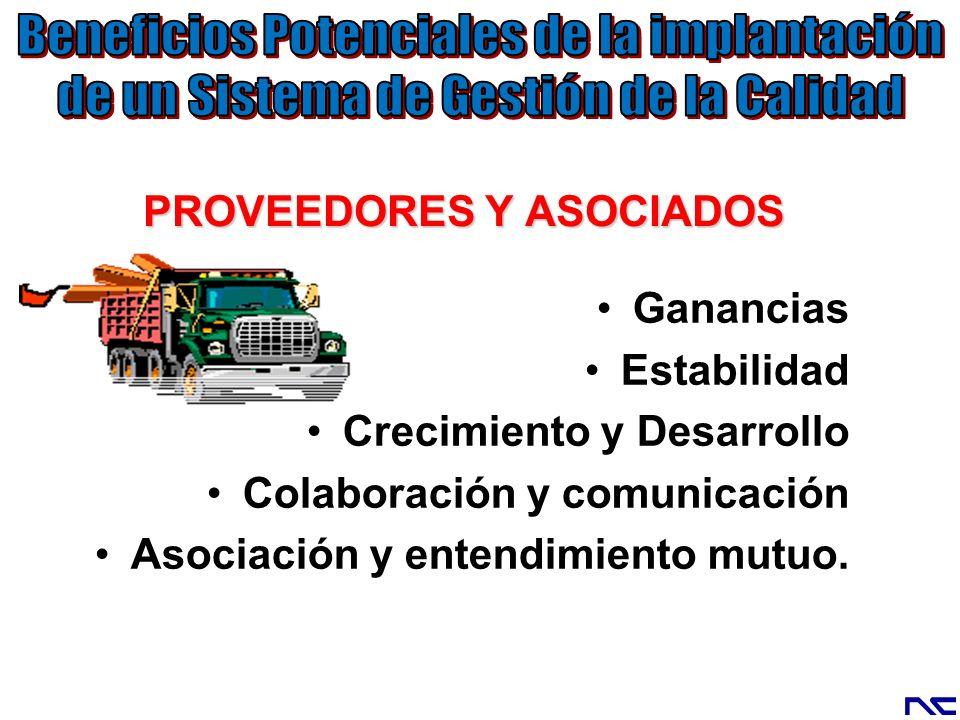 PROVEEDORES Y ASOCIADOS