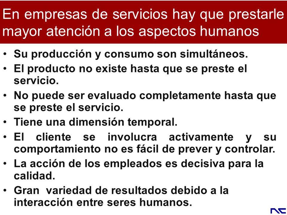 En empresas de servicios hay que prestarle mayor atención a los aspectos humanos