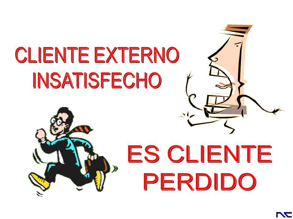CLIENTE EXTERNO INSATISFECHO ES CLIENTE PERDIDO