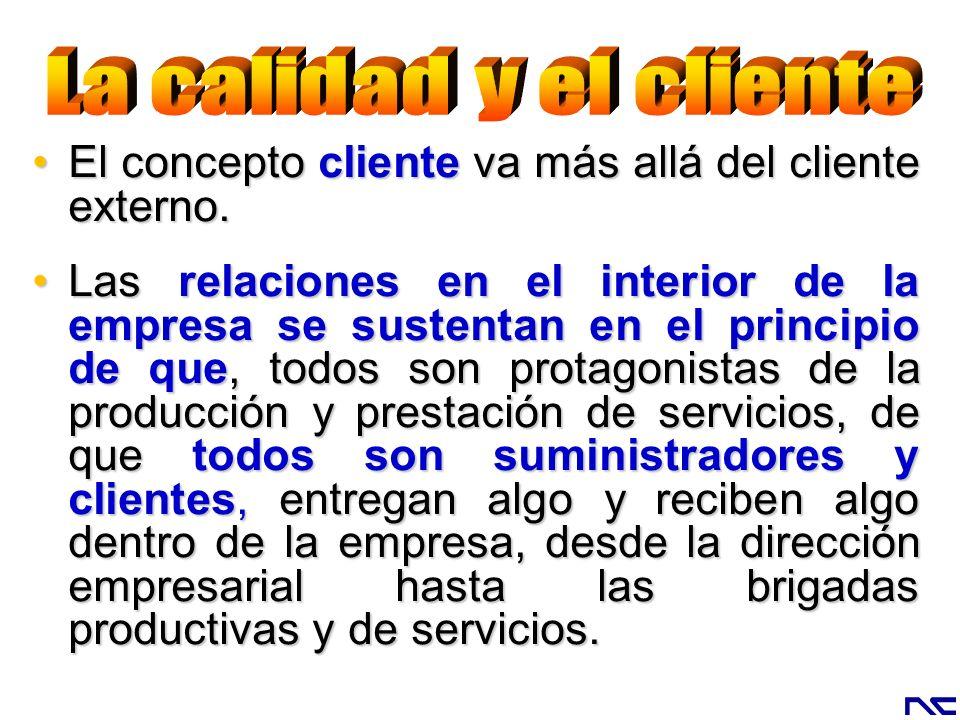 El concepto cliente va más allá del cliente externo.