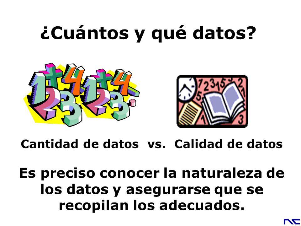 Cantidad de datos vs. Calidad de datos