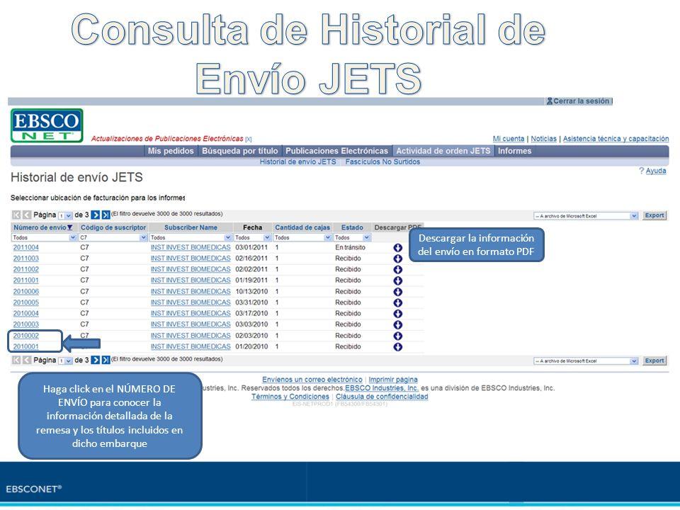 Consulta de Historial de