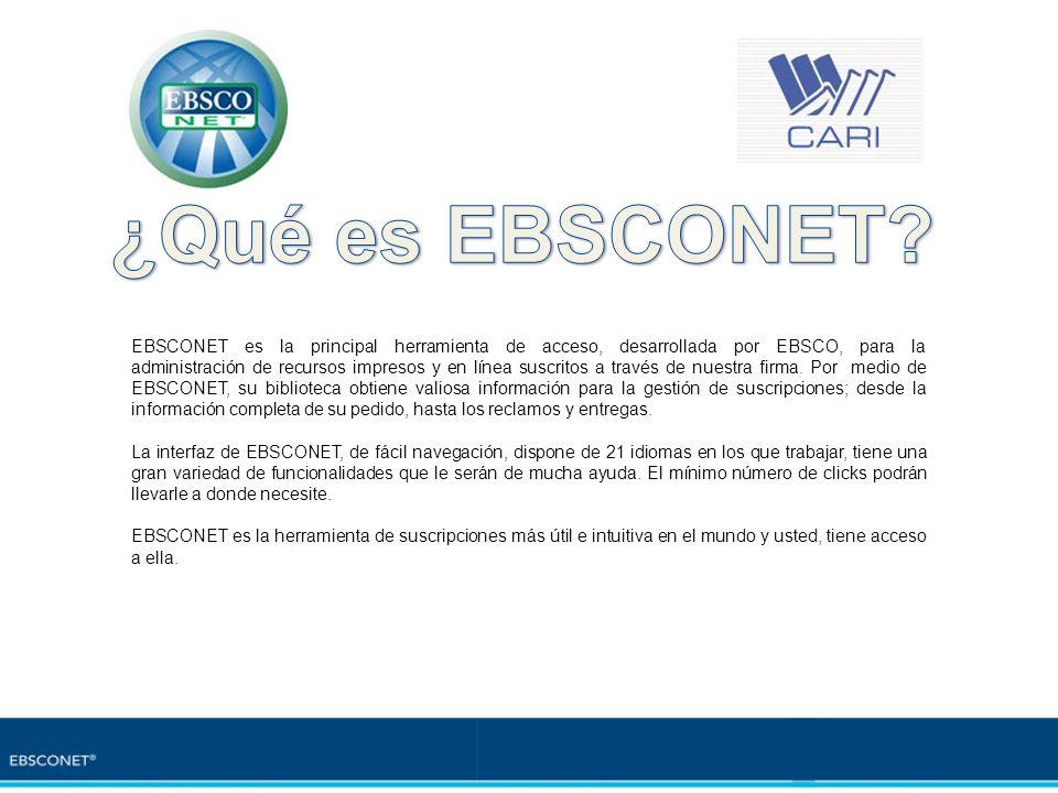¿Qué es EBSCONET