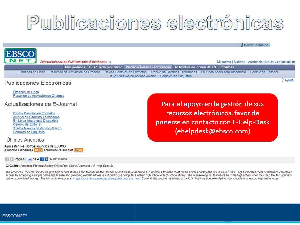 Publicaciones electrónicas