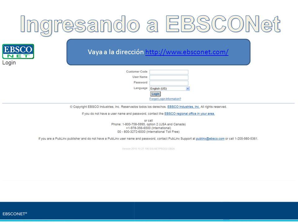 Vaya a la dirección http://www.ebsconet.com/
