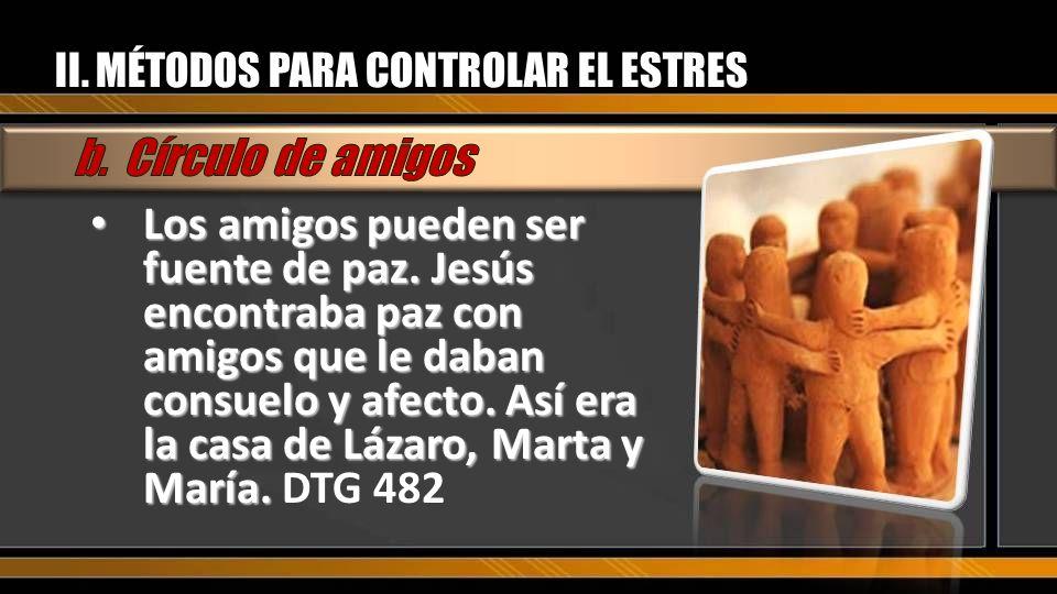 II. MÉTODOS PARA CONTROLAR EL ESTRES