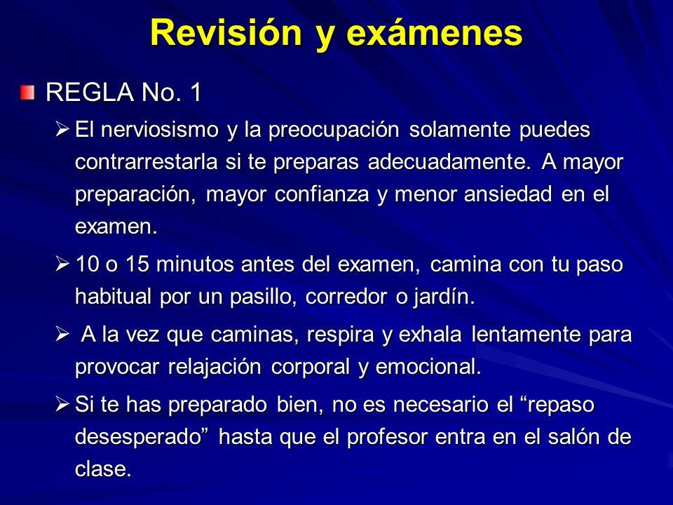 Revisión y exámenes REGLA No. 1
