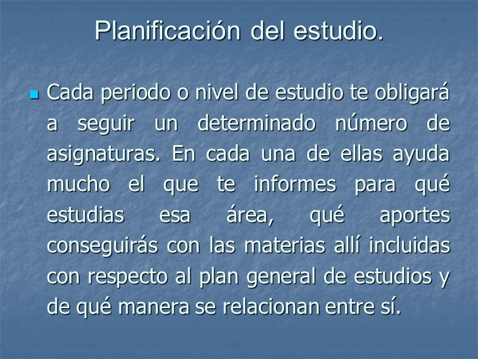 Planificación del estudio.