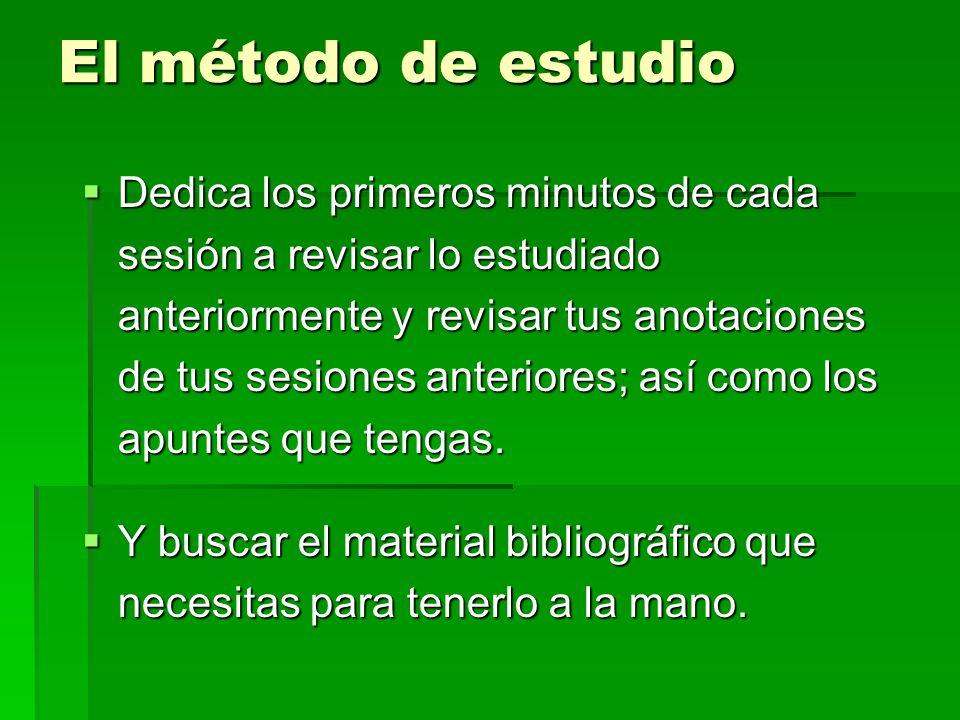 El método de estudio
