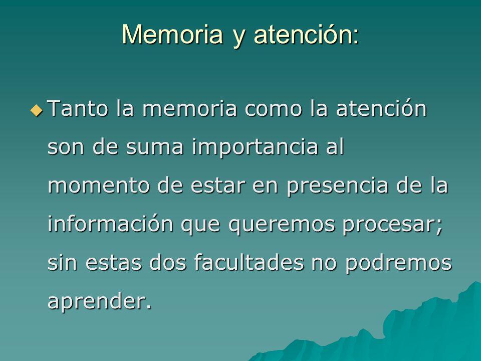 Memoria y atención:
