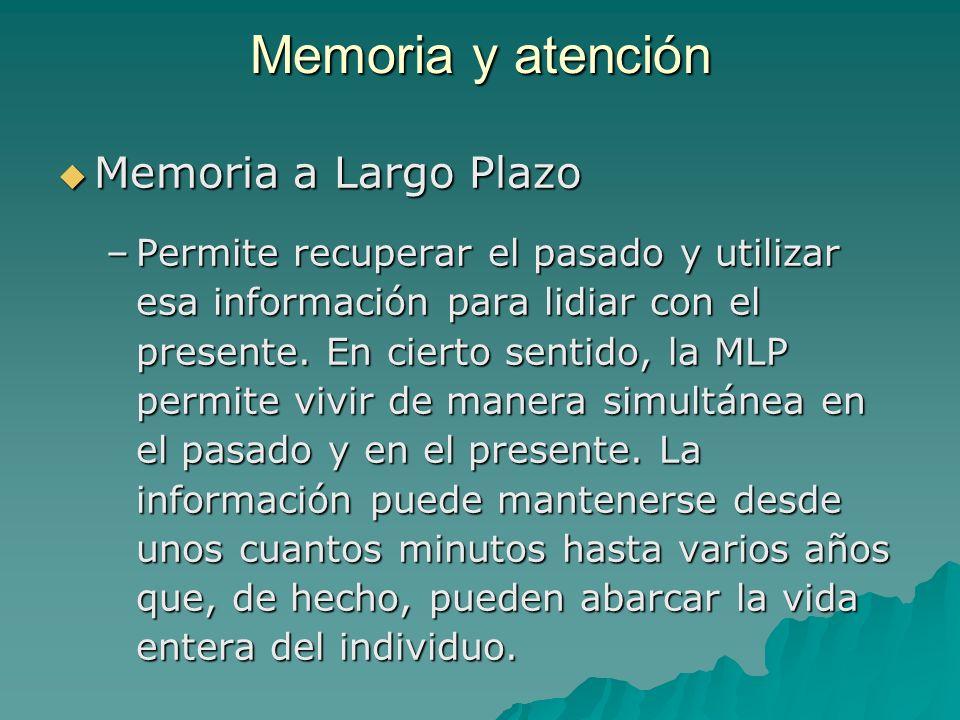 Memoria y atención Memoria a Largo Plazo