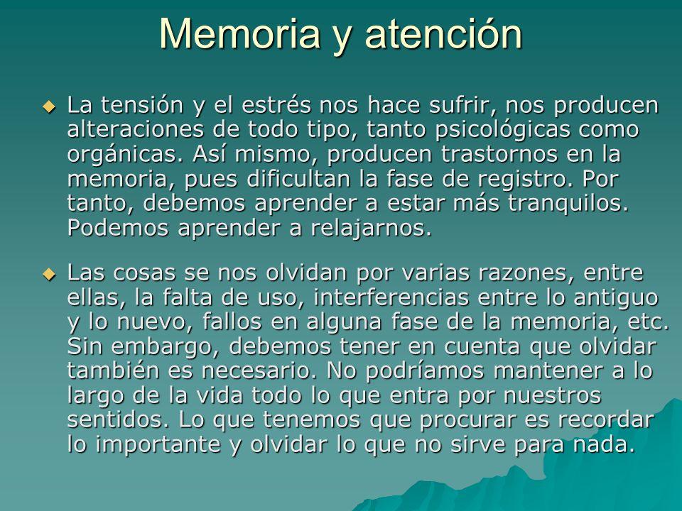 Memoria y atención