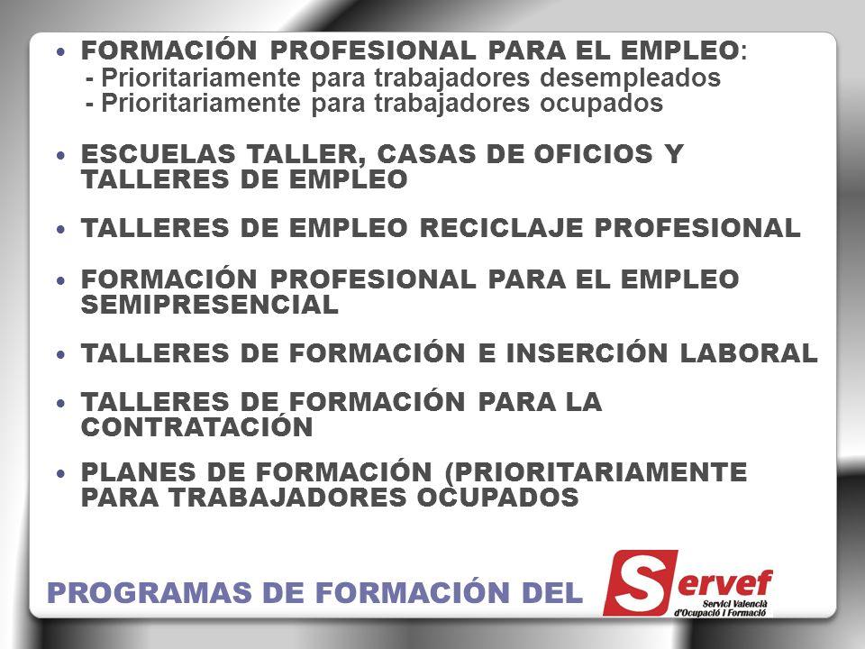 PROGRAMAS DE FORMACIÓN DEL
