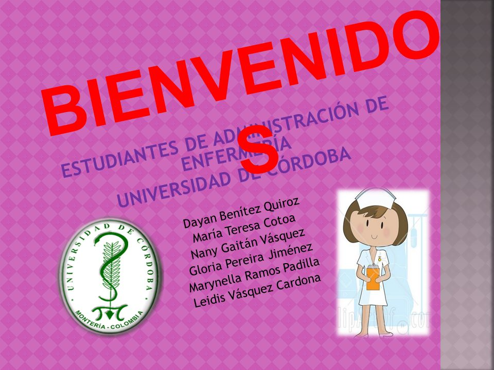ESTUDIANTES DE ADMINISTRACIÓN DE ENFERMERÍA UNIVERSIDAD DE CÓRDOBA