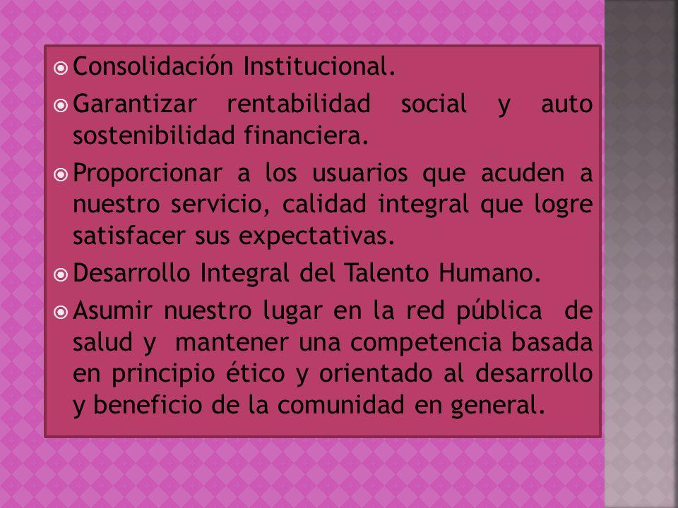 Consolidación Institucional.