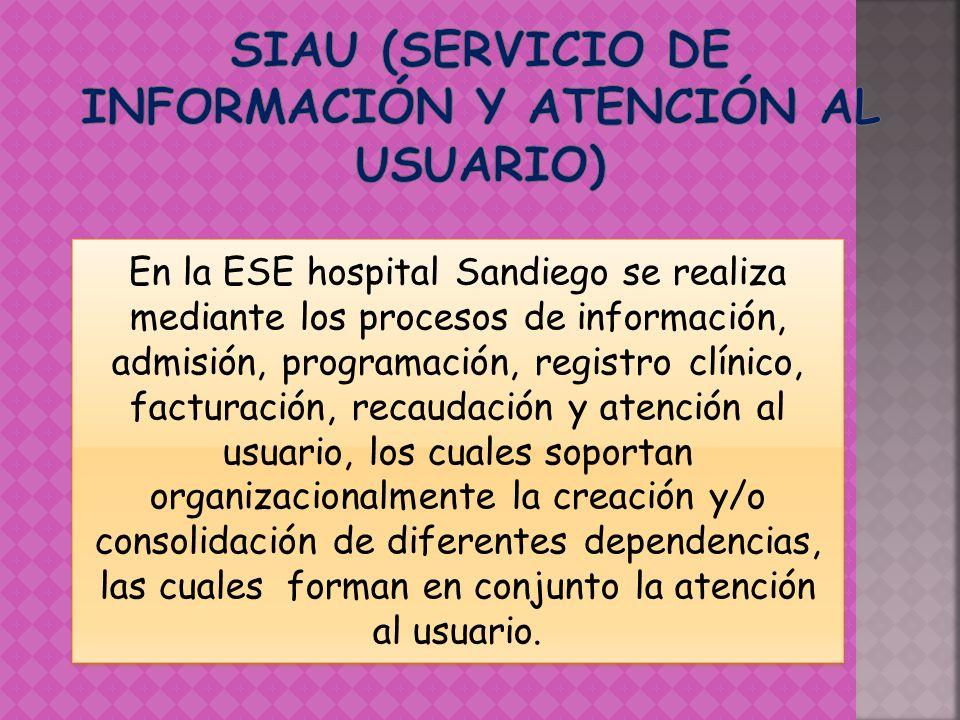SIAU (SERVICIO DE INFORMACIÓN Y ATENCIÓN AL USUARIO)