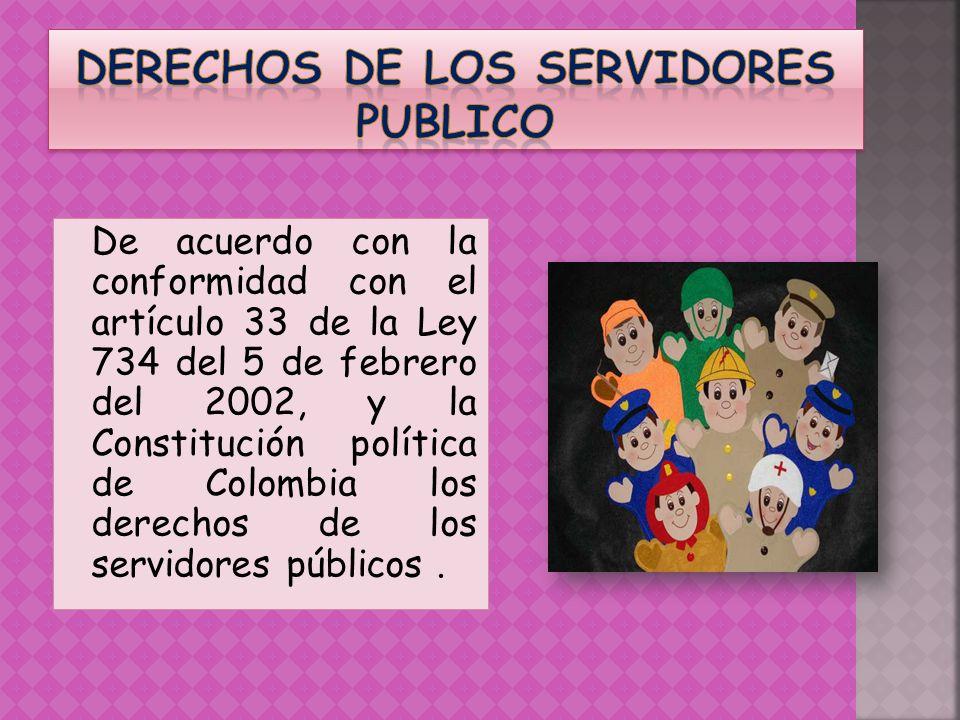 Derechos de los servidores publico