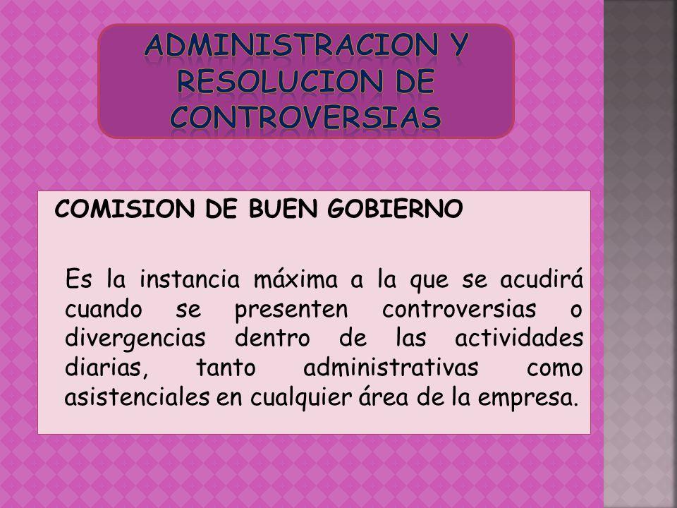 ADMINISTRACION Y RESOLUCION DE CONTROVERSIAS