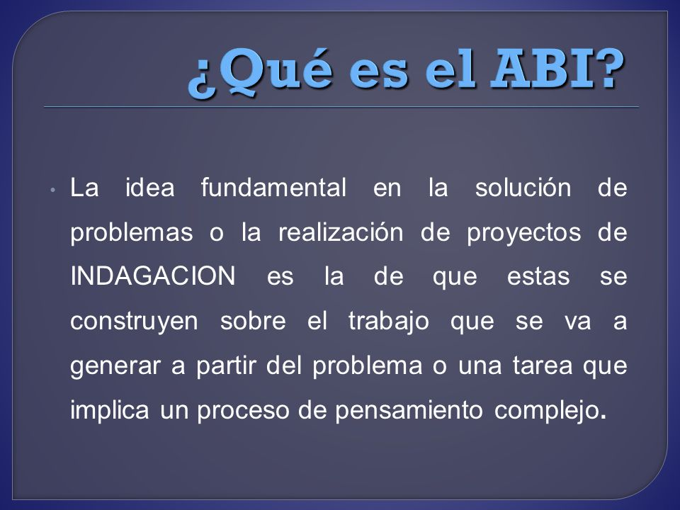 ¿Qué es el ABI