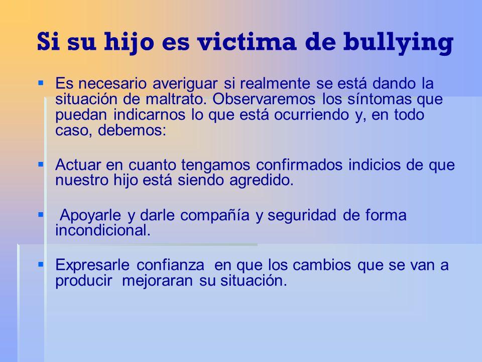 Si su hijo es victima de bullying