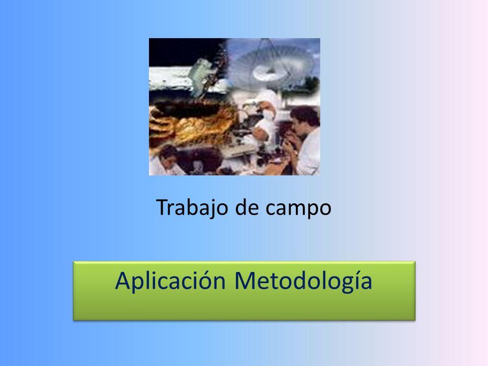 Aplicación Metodología