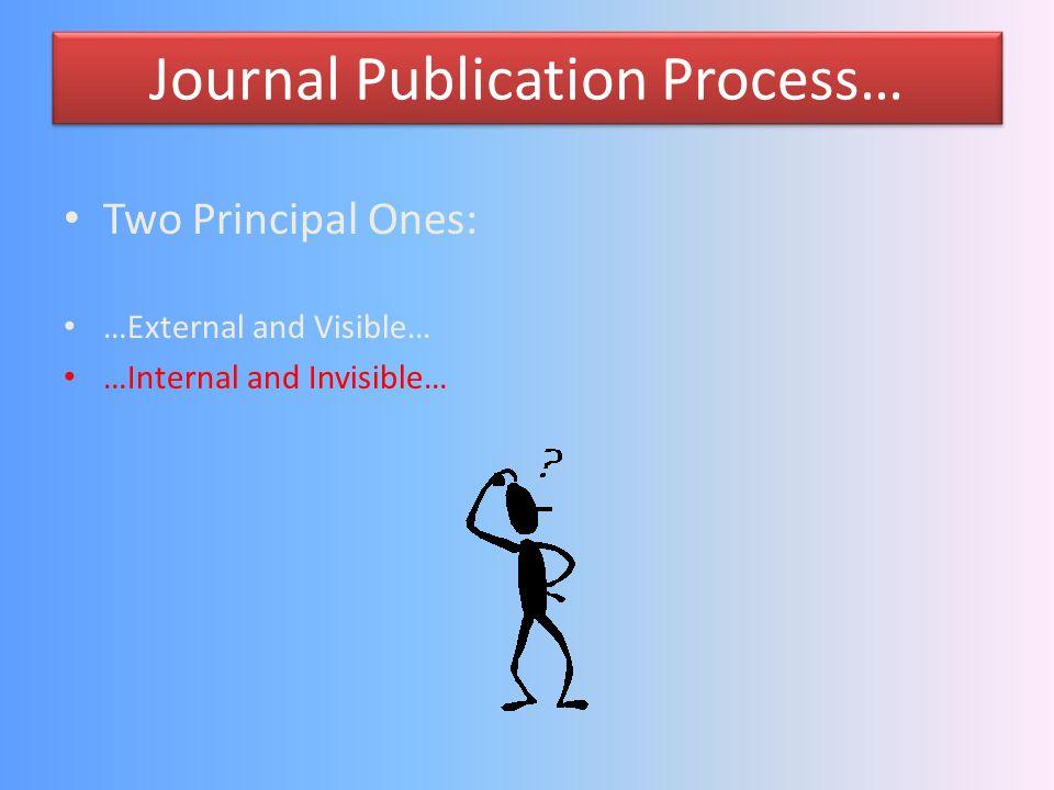 Journal Publication Process…