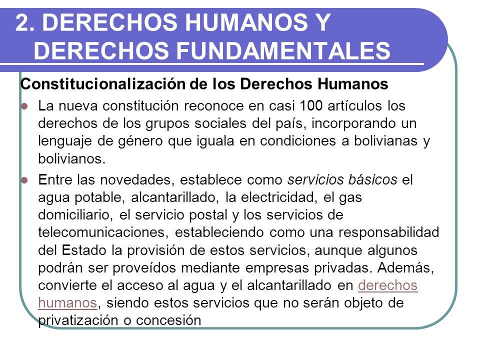 2. DERECHOS HUMANOS Y DERECHOS FUNDAMENTALES