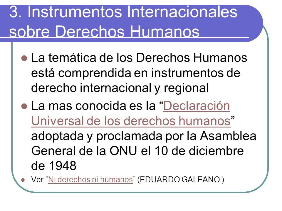 3. Instrumentos Internacionales sobre Derechos Humanos