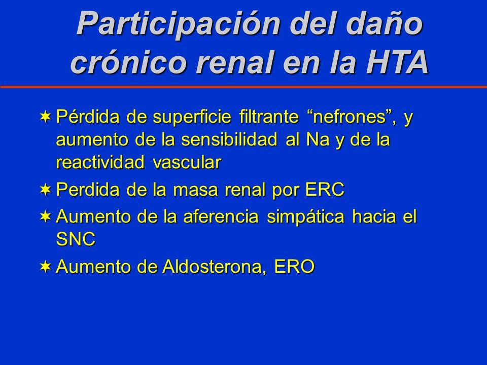 Participación del daño crónico renal en la HTA