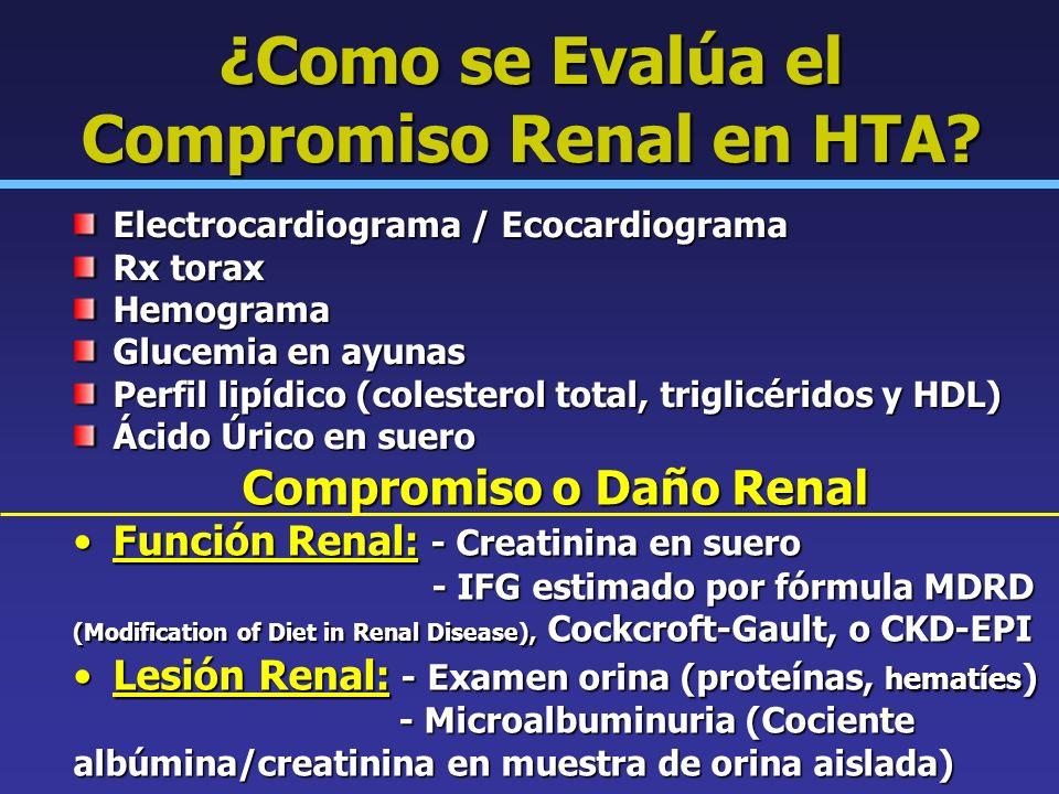 ¿Como se Evalúa el Compromiso Renal en HTA