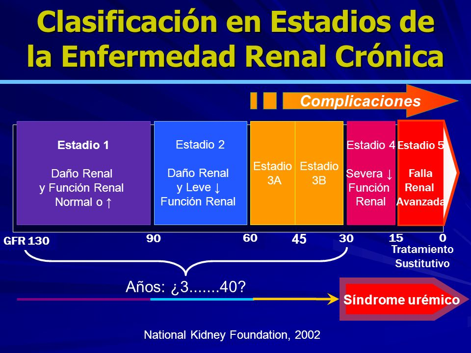 Clasificación en Estadios de la Enfermedad Renal Crónica