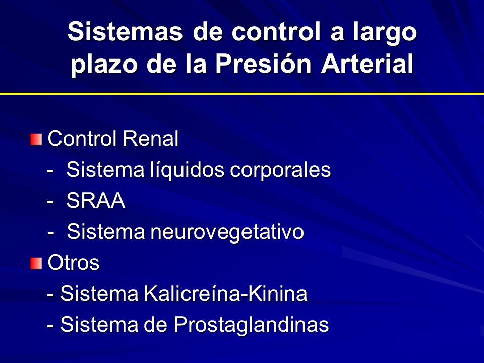 Sistemas de control a largo plazo de la Presión Arterial