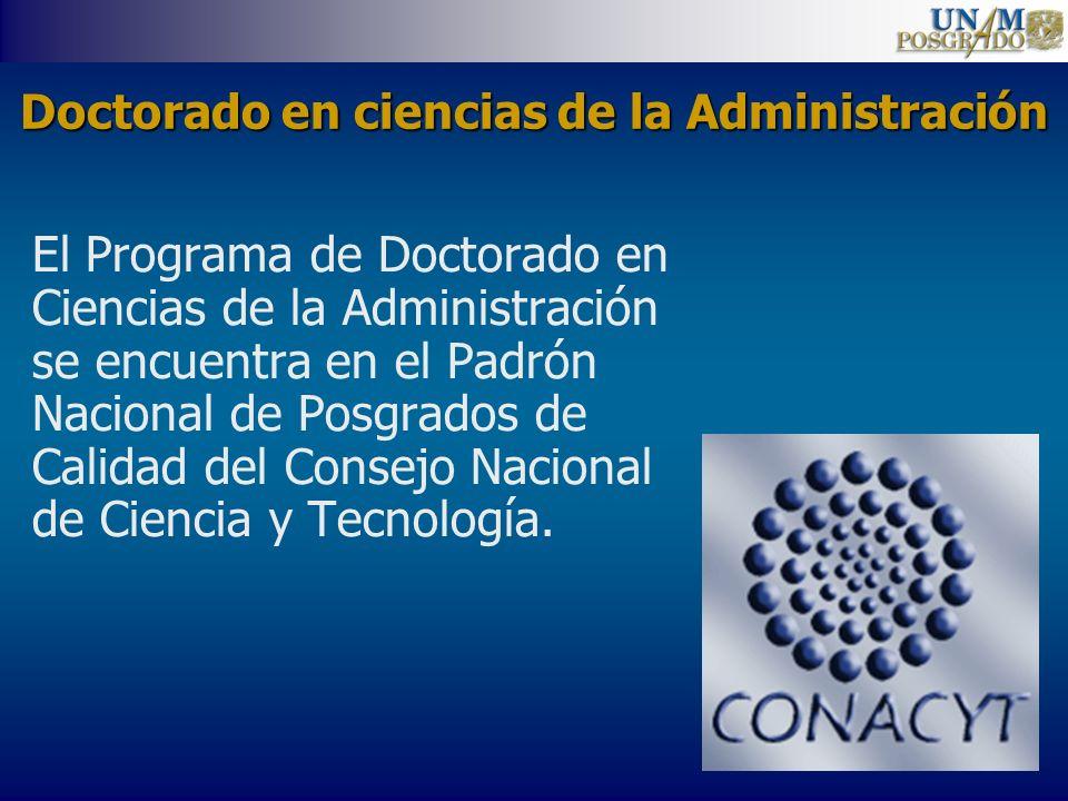Doctorado en ciencias de la Administración