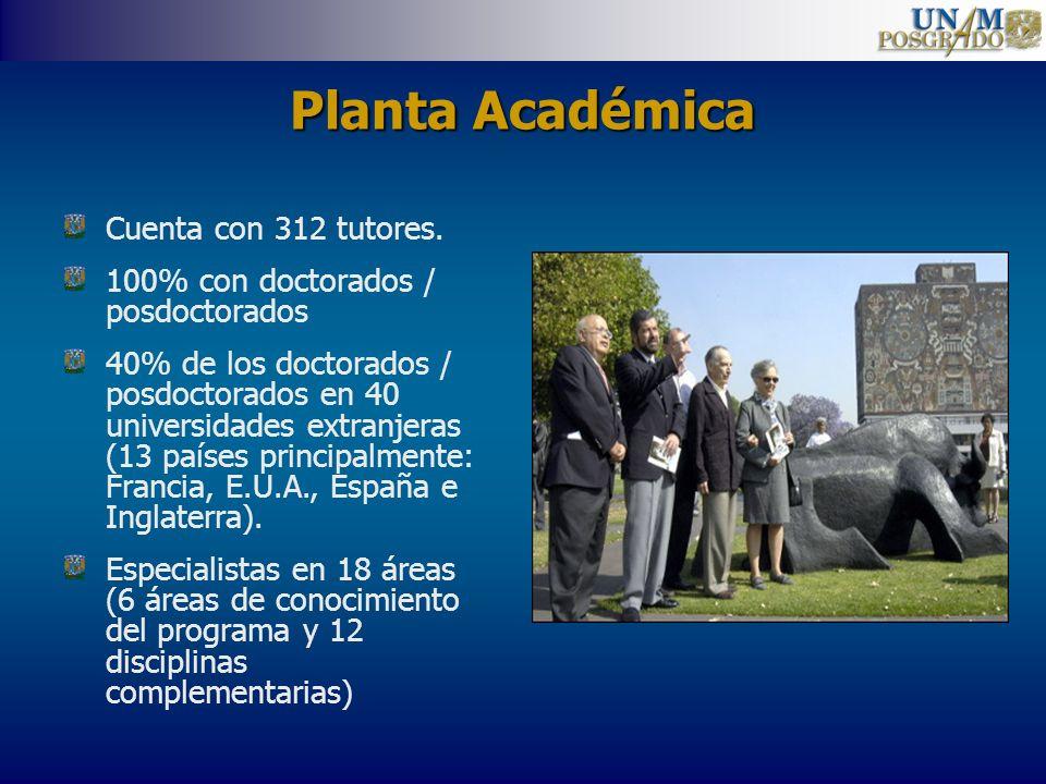 Planta Académica Cuenta con 312 tutores.