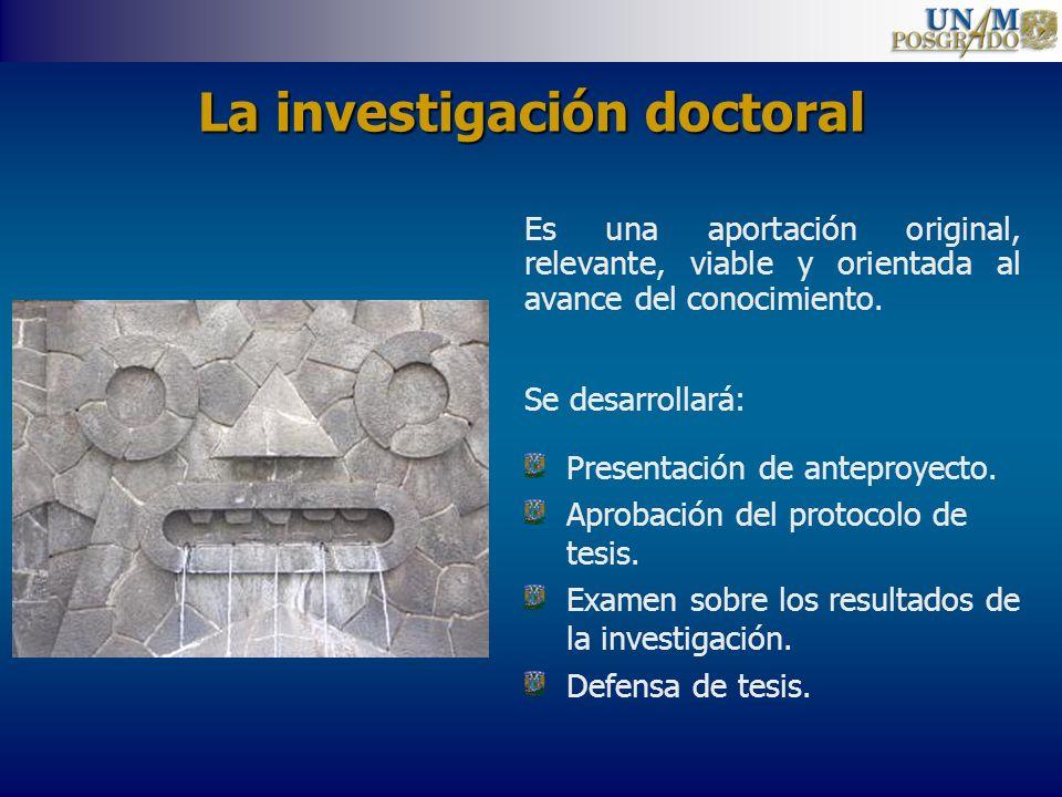 La investigación doctoral