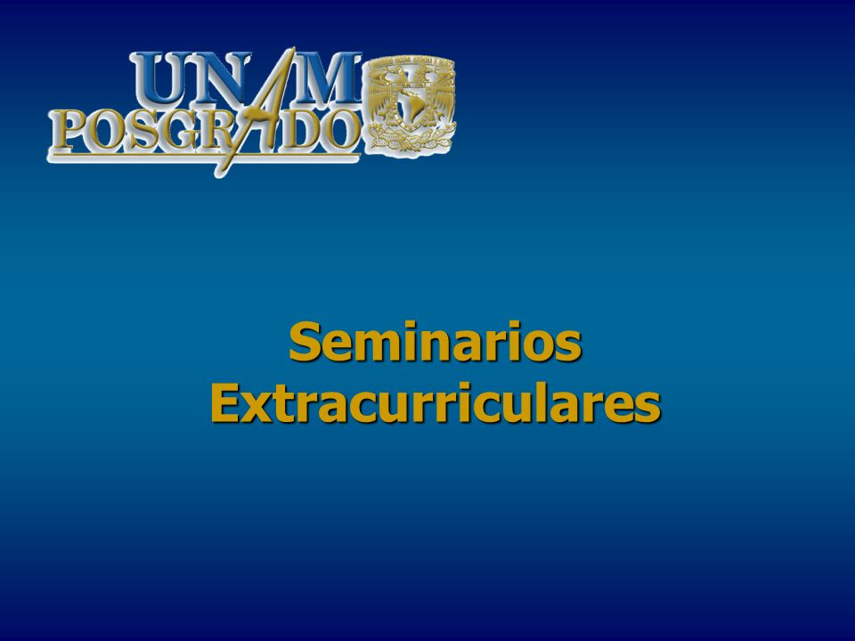 Seminarios Extracurriculares