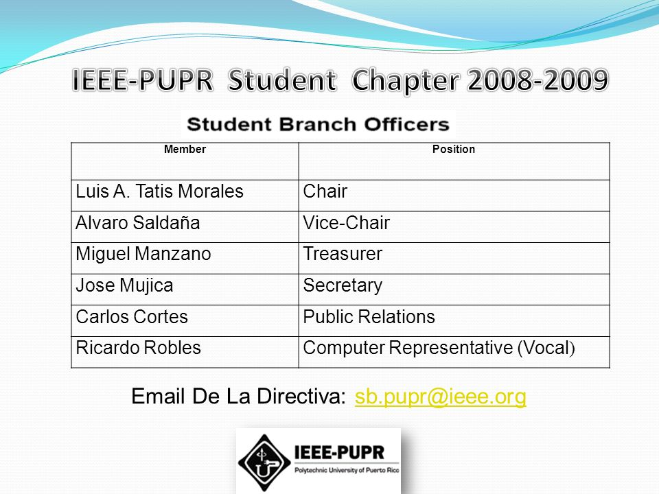IEEE-PUPR Student Chapter 2008-2009