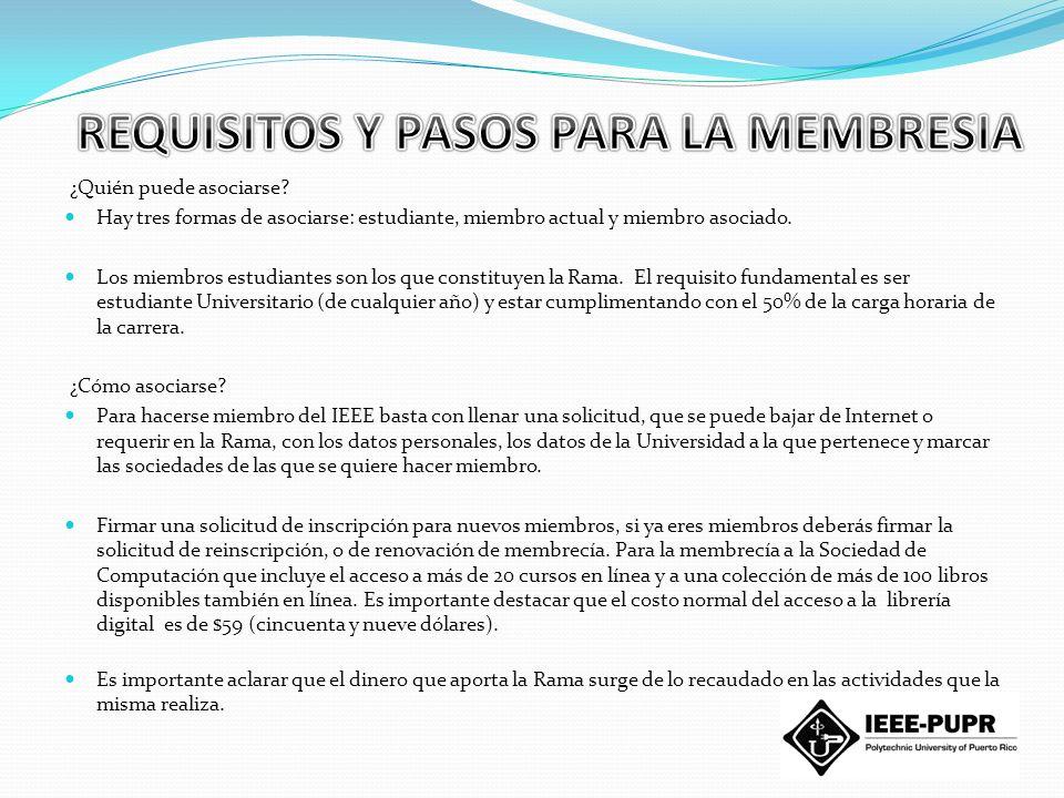REQUISITOS Y PASOS PARA LA MEMBRESIA