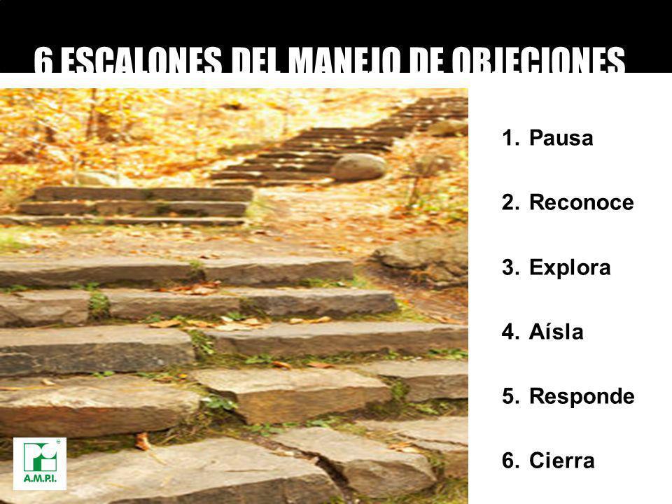 6 ESCALONES DEL MANEJO DE OBJECIONES