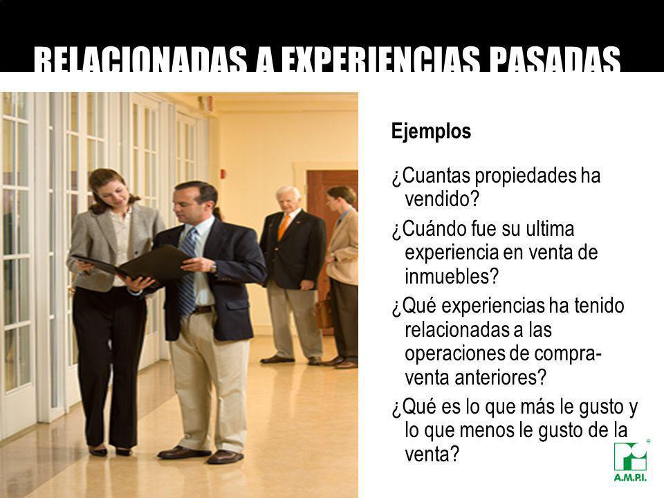 RELACIONADAS A EXPERIENCIAS PASADAS